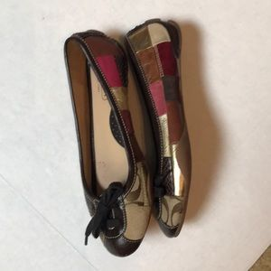Coach Flats Jasmine Patchwork Leather and suede.